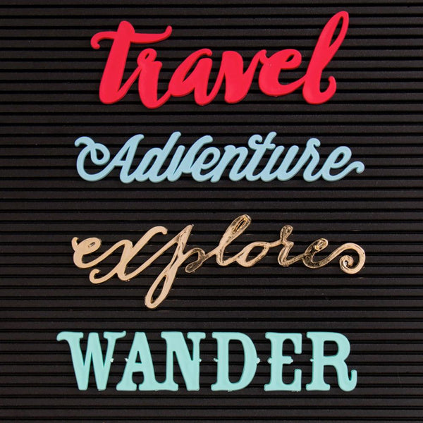 DCWV - Letterboard Words - Travel