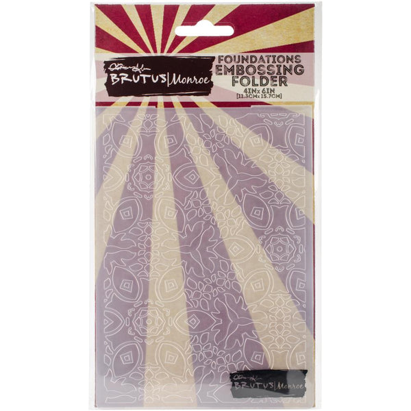 Brutus Monroe - Embossing Folder - Vintage Tapesty