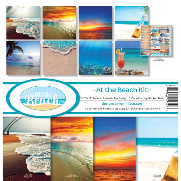 Reminisce - At The Beach - 12 x 12 Kit