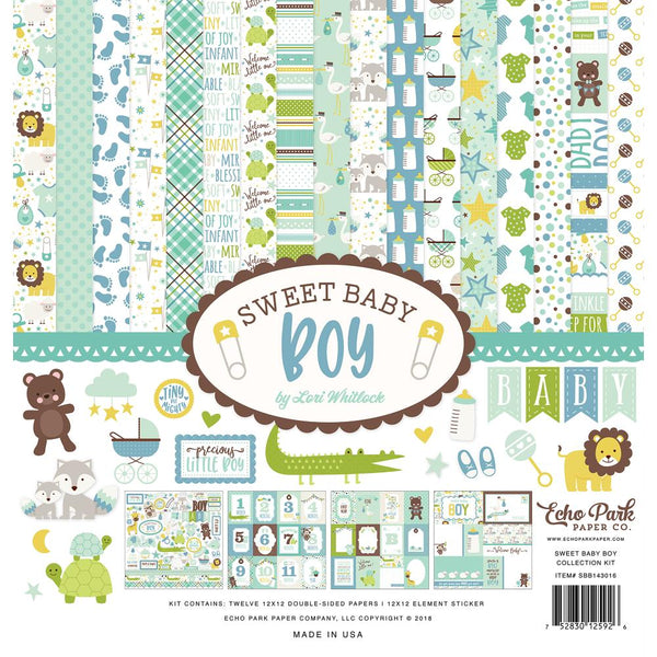 Echo Park - Sweet Baby Boy - 12x12 collection kit