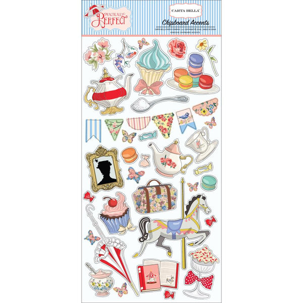Carta Bella - Practically Perfect - Chipboard Accent stickers