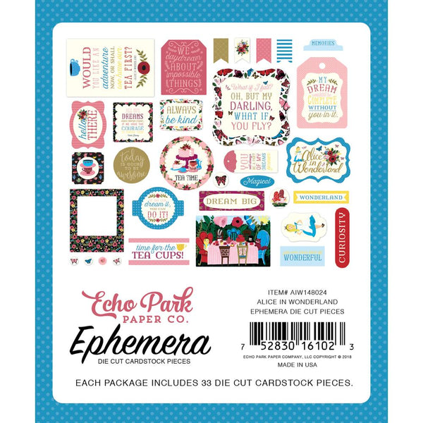 Echo Park - Alice in Wonderland - Ephemera pack