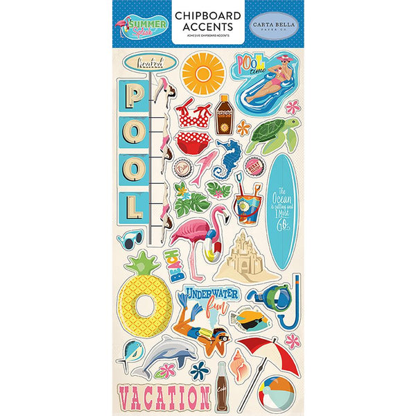 Carta Bella - Summer Splash - Chipboard - Accents