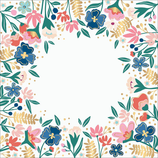Paige Evans - Pick Me Up - 12x12 Floral Acetate w/ Gold Foil