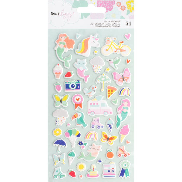 Dear Lizzy - Stay Colourful - Mini Icon Puffy Stickers