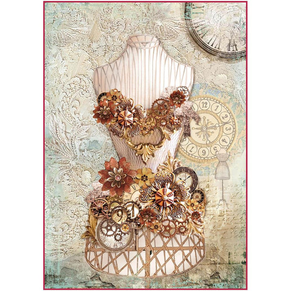 Stamperia - Decoupage Rice Paper - Clockwise Mannequin