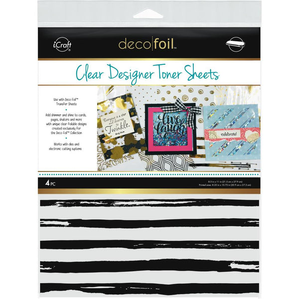 Therm O Web - Deco Foil Clear Toner Sheets - Distressed Lines