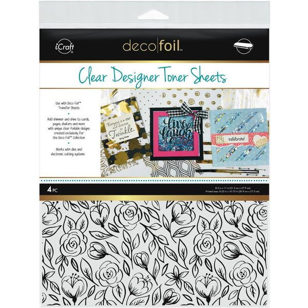 Therm O Web - Deco Foil Clear Toner Sheets - Floral Sketch