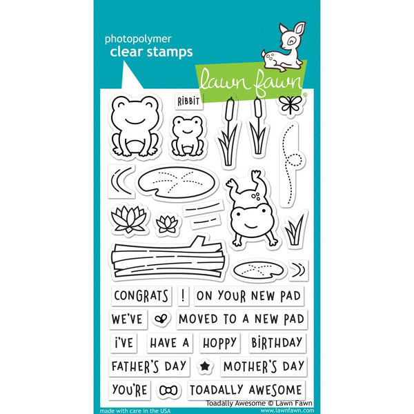Lawn Fawn - Toadally Awesome stamp set