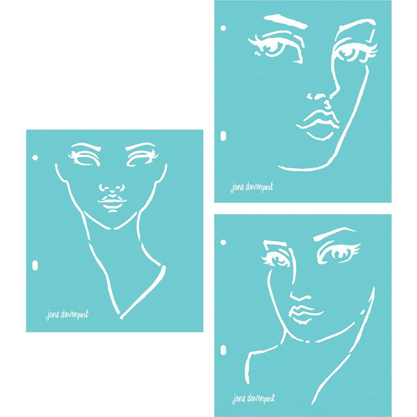 Jane Davenport - Good Face stencil set