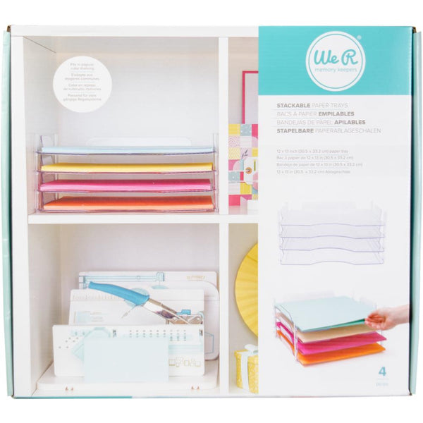 We R Memory Keepers - Stackable Acrylic Paper Trays