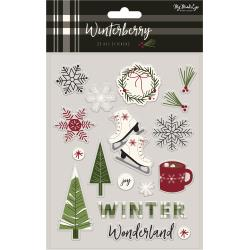 My Mind's Eye - Winterberry - Puffy Stickers