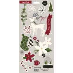 "My Mind's Eye - Winterberry - Chipboard Elements 6""X12"" 2/Pkg"