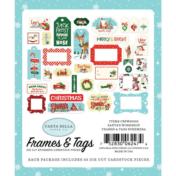 Carta Bella - Santa's Workshop - Frames & Tags