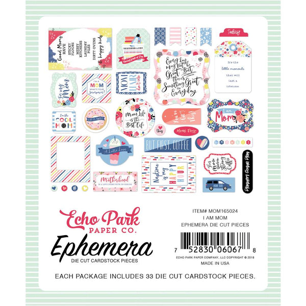 Echo Park - I Am Mom - Ephemera Pack