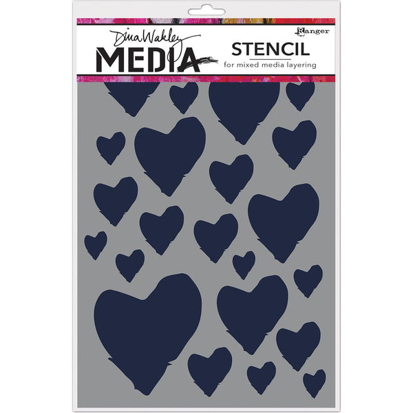 Dina Wakley Media - The Best Hearts stencil