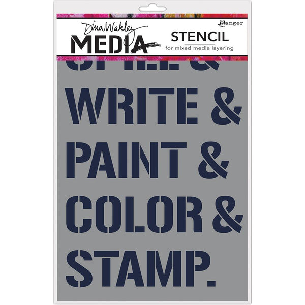 Dina Wakley Media - What We Do stencil