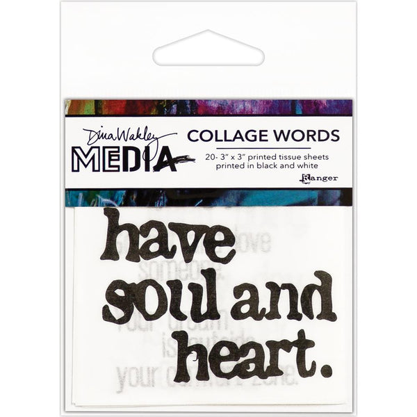 Dina Wakley Media - Collage Words 2