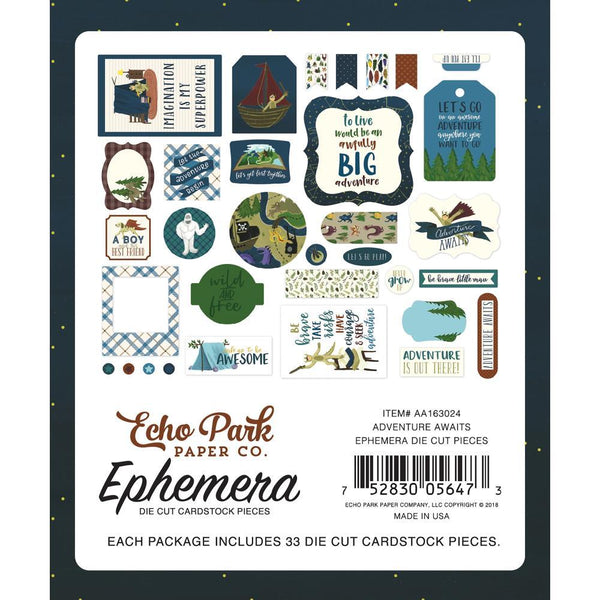 Echo Park - Adventure Awaits - Ephemera Pack