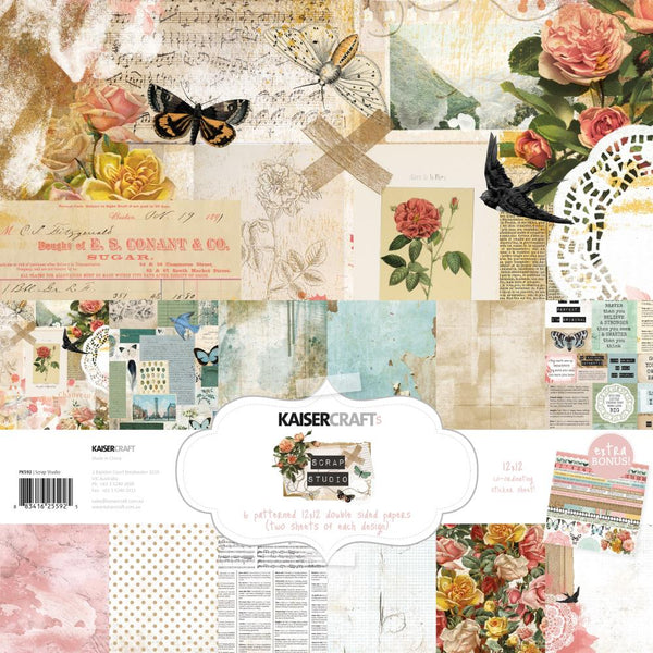 Kaisercraft - Scrap Studio - 12x12 Paper Pack