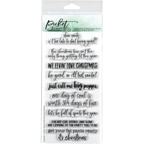 Picket Fence Studios - Inappropriate Christmas stamp set