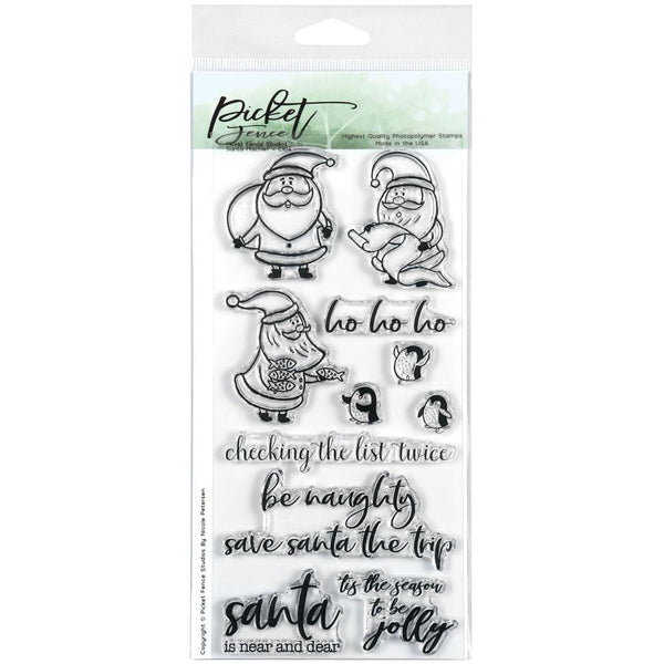 Picket Fence Studios - Santa Mischief stamp set