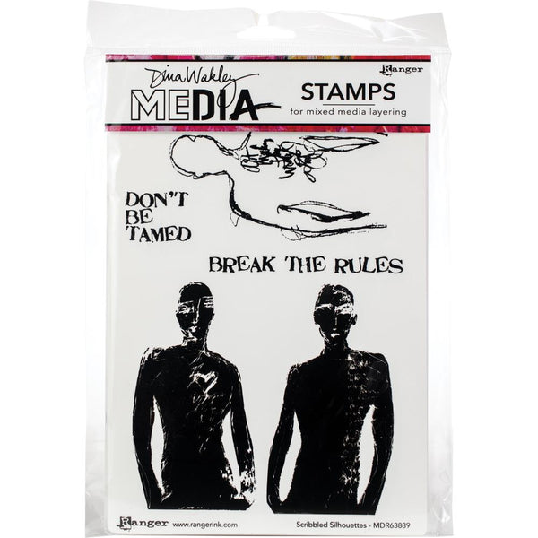 Dina Wakley Media - Scribbled Silhouettes stamp set