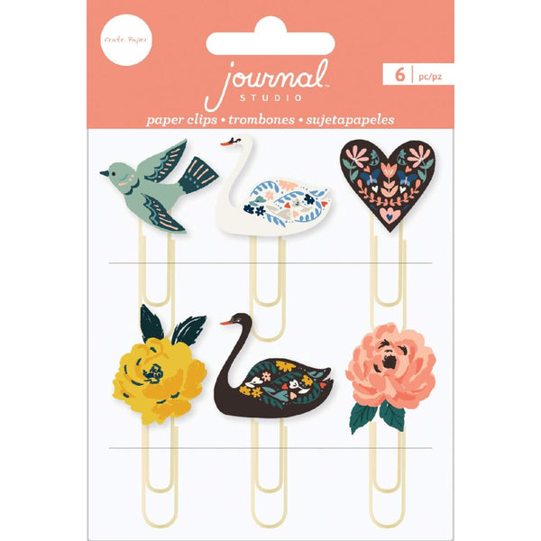 Crate Paper - Journal Studio - Swan Clips 6/pk