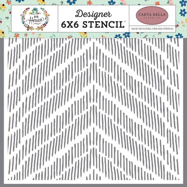 Carta Bella - Our House - Distressed Chevron stencil