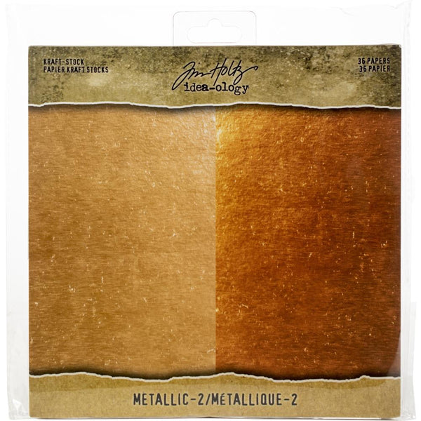 Tim Hotlz - Kraft Stock - Metallic 2 8x8 paper pad