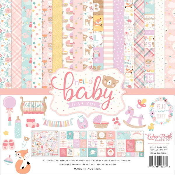 Echo Park - Hello Baby Girl - 12 x 12 Collection Kit