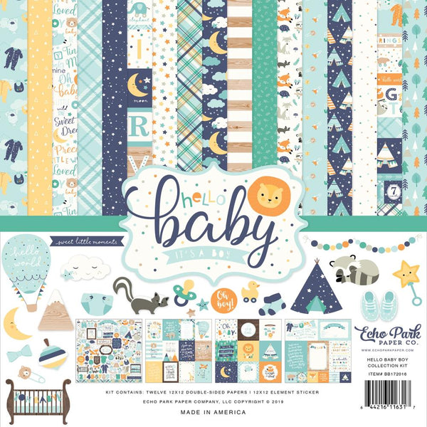 Echo Park - Hello Baby Boy - 12 x 12 Collection Kit
