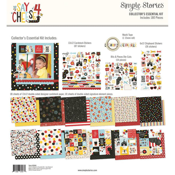 Simple Stories - Say Cheese 4 - 12 x 12 Collector's Essential Kit