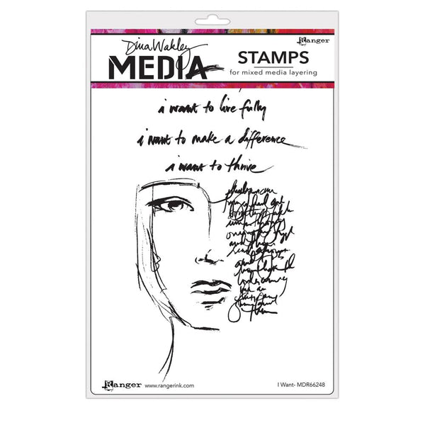 Dina Wakley Media - I Want Stamp Set