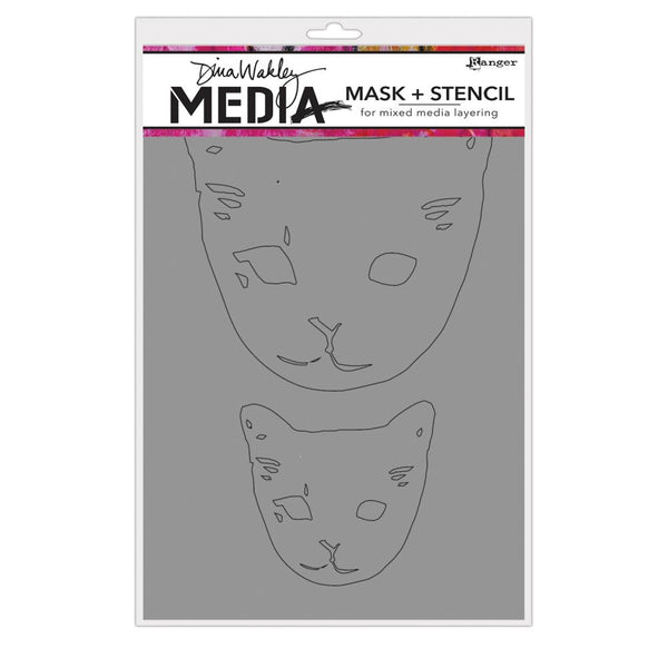 Dina Wakley Media - Cat Head Mask + Stencil
