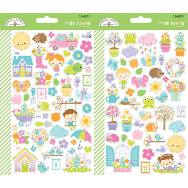 Doodlebug Designs - Simply Spring - Mini Icon Stickers
