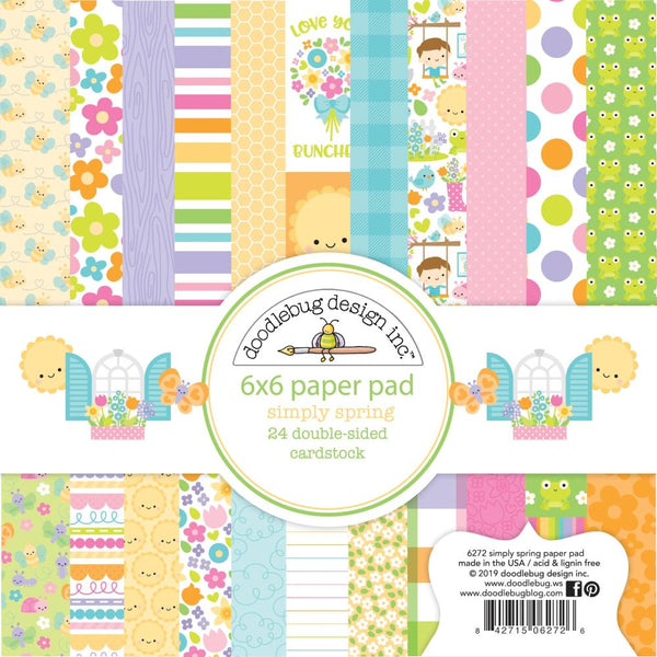 Doodlebug Design - Simply Spring 6 x 6 paper pad
