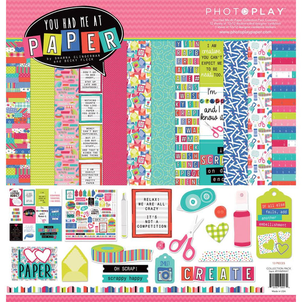 Photoplay Paper - You Had Me At Paper - 12 x 12 Collection Kit
