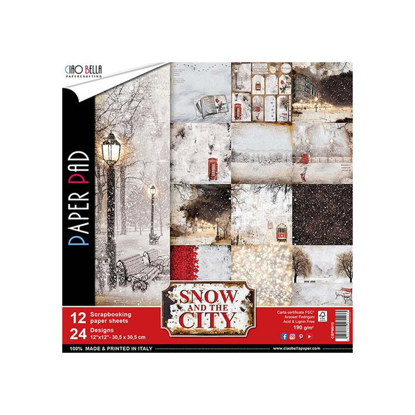 Ciao Bella - Snow In The City - 12 x 12 Paper Pack