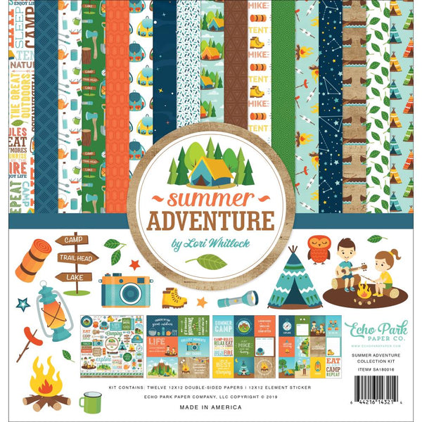 Echo Park - Summer Adventure - 12 x 12 Collection Kit