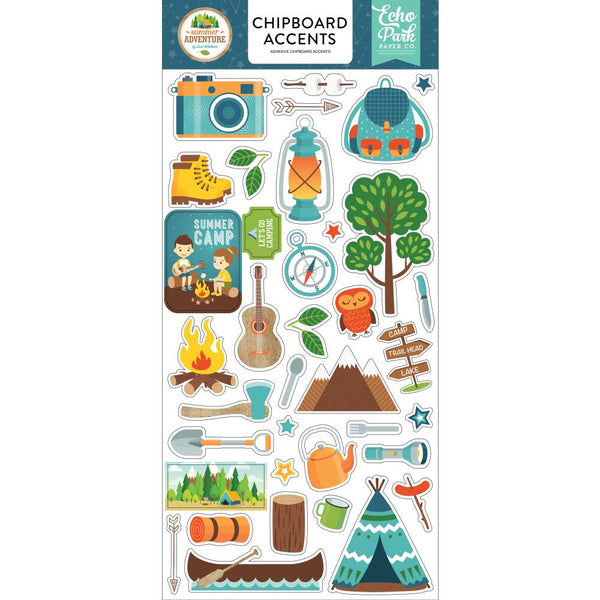 Echo Park - Summer Adventure - Chipboard Accents Stickers