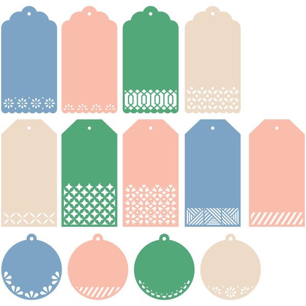 Pinkfresh Studios - Essentials - Classic Tags With Fillable Elements Die Set
