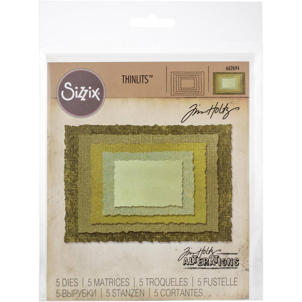 Sizzix - Tim Holtz - Stacked Deckle die set