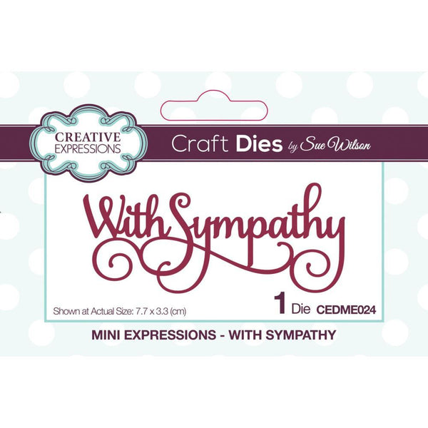 Creative Expressions - Craft Dies By Sue Wilson - With Sympathy