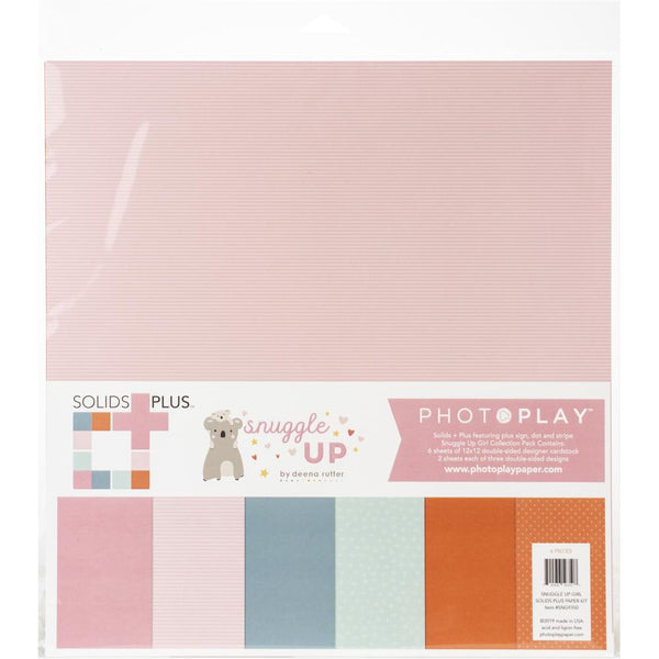 Photoplay Paper - Snuggle Up - Girl  Solids Plus Paper Pack