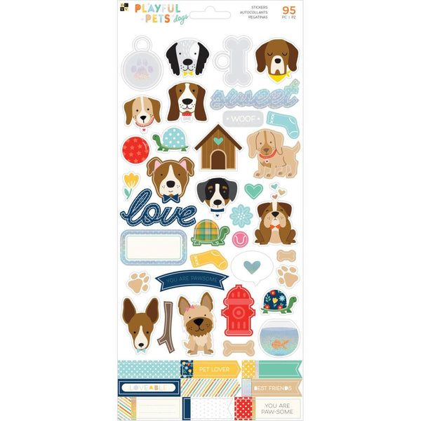 DCWV - Playful Pets - Dogs Cardstock Stickers
