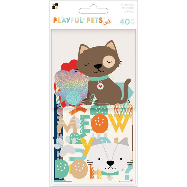 DCWV - Playful Pets - Cats Ephemera Pack