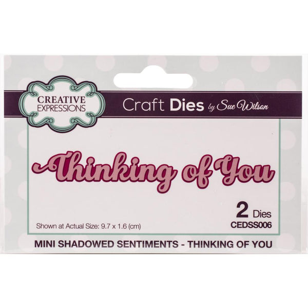 Creative Expressions - Craft Dies By Sue Wilson - Thinking of You