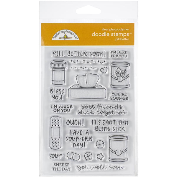 Doodlebug Design - Pill Better Stamp Set