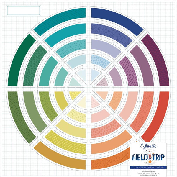 Shimelle - Field Trip - Colour Wheel Die-Cut Cardstock